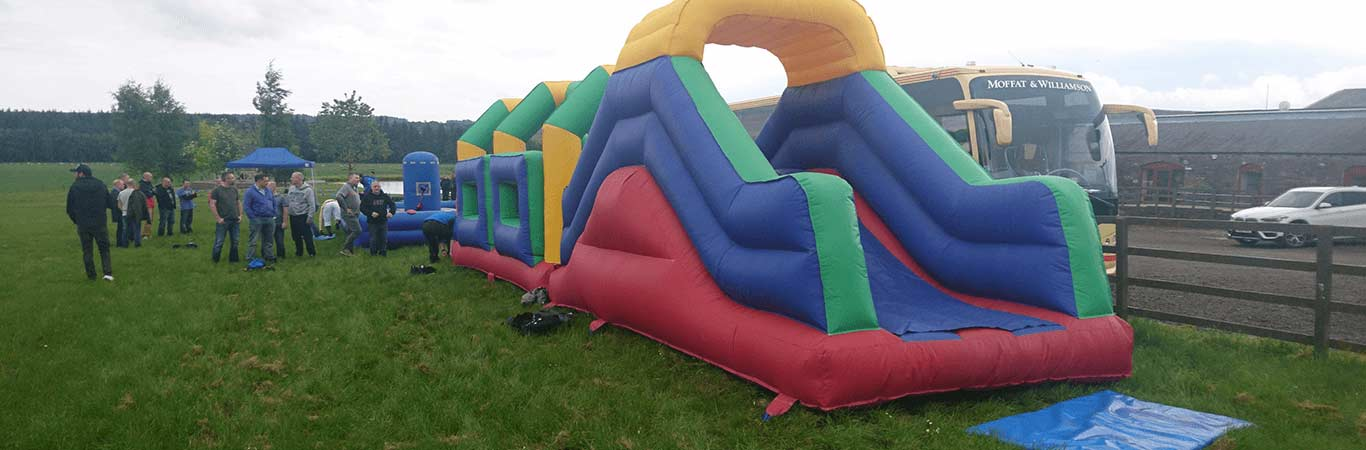 Its a Knockout set up for a school trip in edinburgh with great away days
